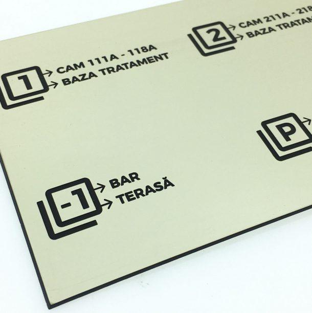 Placute indicatoare realizate prin gravura si debitare laser Diversitas Group Romania